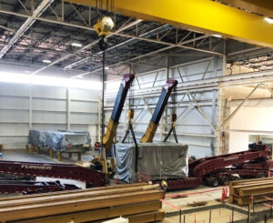 Installation of manufacturing machinery